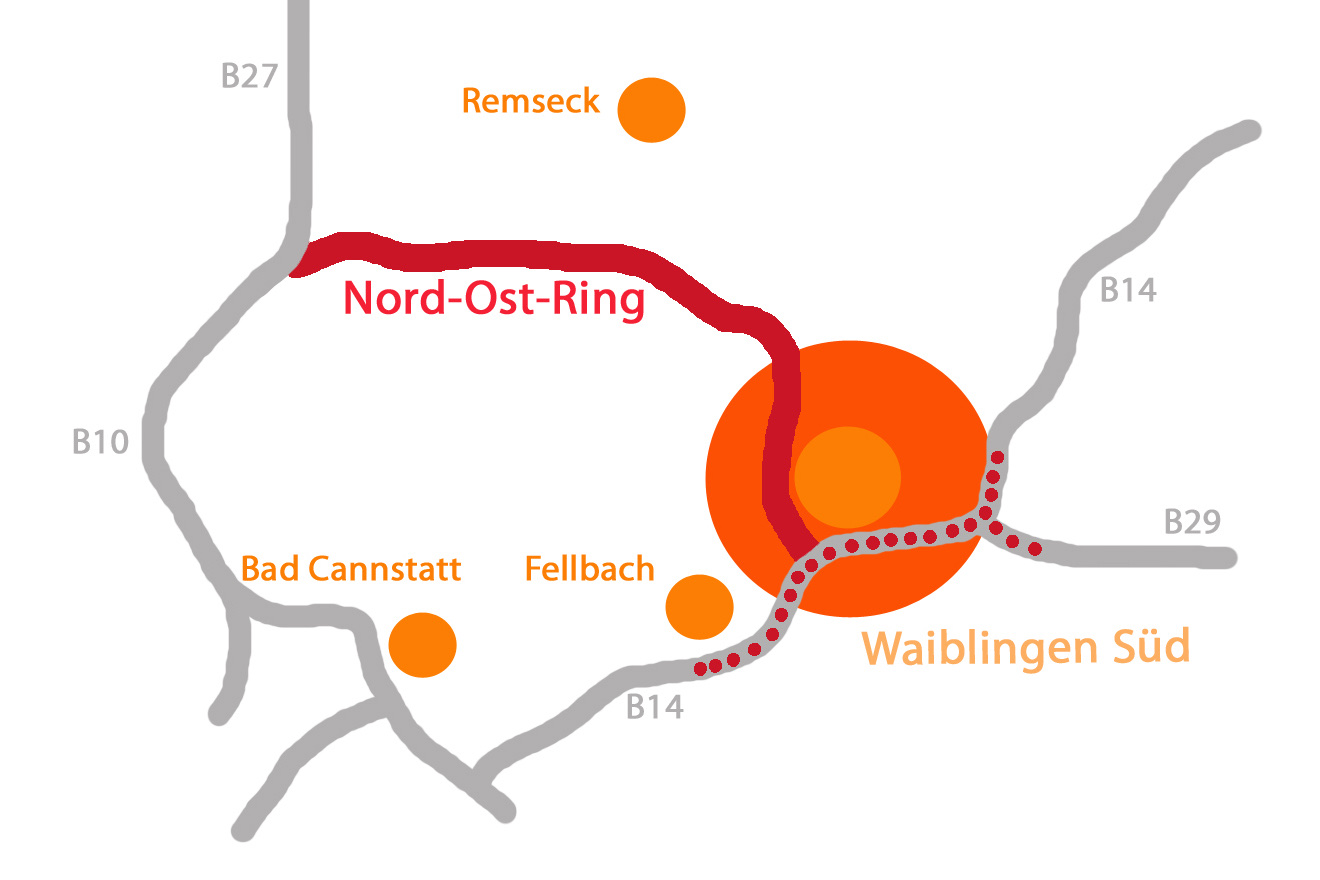 Nord-Ost-Ring in Waiblingen Süd