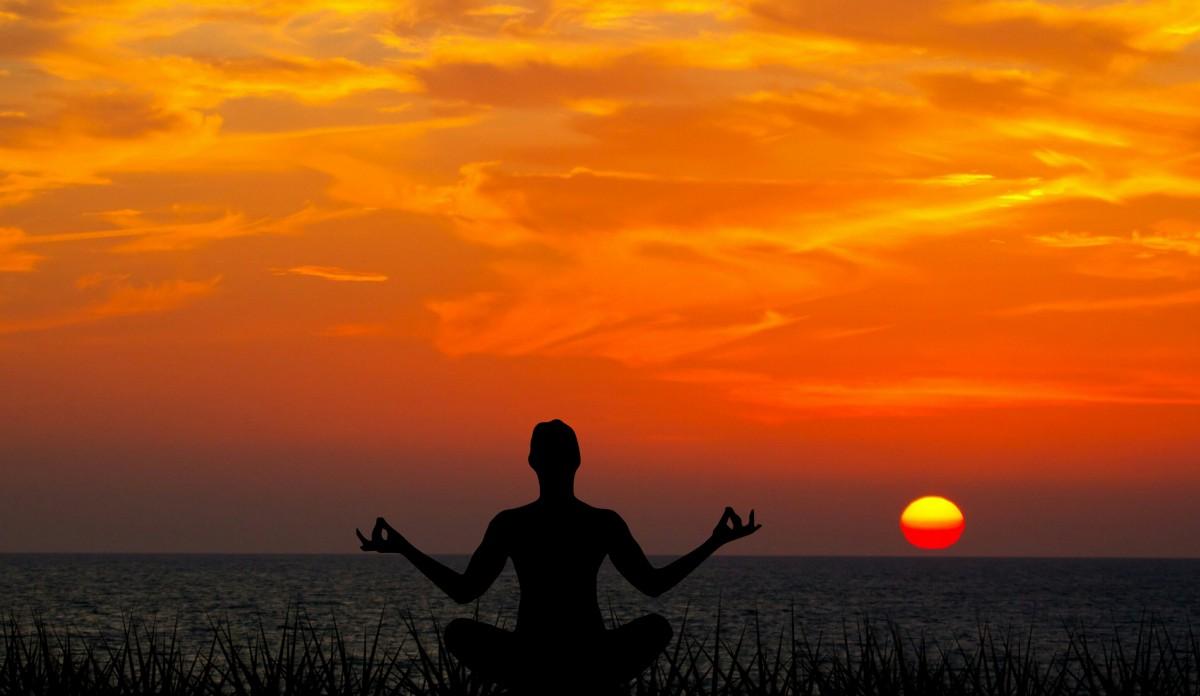 Yoga am Abend